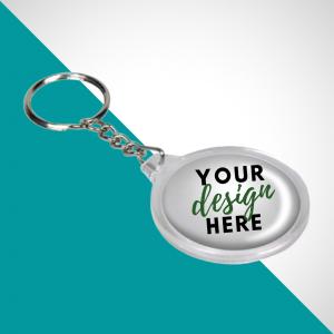 Round Shape Acrylic Keychain