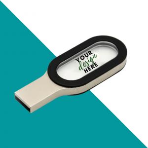 Metal with Crystal USB Flash Drive
