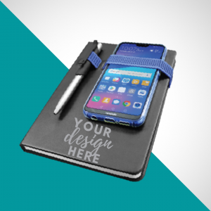 Notebook With Pen Mobile Holder