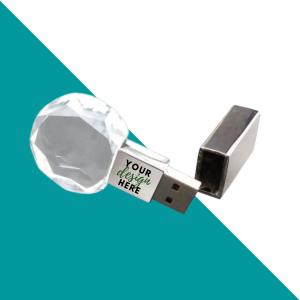 Round Crystal USB Flash Drive